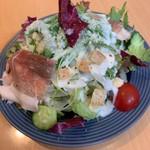 オレンジガーデン - 料理写真:能登豚生ハムのシーザーサラダ