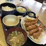 かつ亭 - えびフライ定食100 1/2