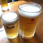 すし処 みどりや - 生ビール(中&大)