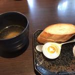Itariandaininguhananoiori - スープとパン
