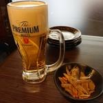 111614675 - 2019年6月 生ビール+お通し 560+300円+税