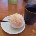 串あげ屋 一會 - デザートセット(珈琲とバナナ串)
