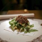エクアトゥール - ☆玉蜀黍のフリット、黒トリュフ