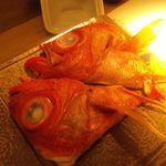 11163354 - 2011.12:金目鯛の頭焼き物で、最後に目玉をもう一度焼いて食べるんです!!
