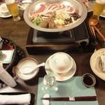 生寿苑 - 料理写真:夕餉スタート時のセッティング