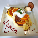 ソレイユカフェ - レモンのパンケーキ