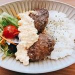 アジアンリゾートラウンジ 陶庵 - 鹿肉のハンバーグタルタル丼