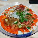 麺極燕参上そば 鳴神 - 冷やし麻婆咖喱担々麺