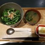 社食堂 - 薬味たっぷり海鮮丼全景