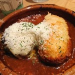あさり食堂 - 粉チーズがたっぷり