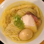 自家製麺 竜葵 - 味玉塩そば