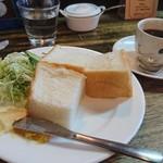 クラムボン - ふかふかパン(蒸しパン)セット¥680コーヒーはコロンビア