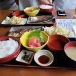 大磯大衆食堂 えびや - おすすめセット2人分2019.07.09