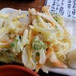 大磯大衆食堂 えびや - 野菜かき揚げ(セット)2019.07.09