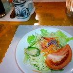 あしたの森 - (夕食)グリーンサラダ。