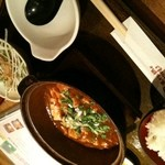 赤から - マーボー豆腐定食(780円)