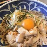 夢庵 - 料理写真:ピリ辛ラー油肉そば 2玉