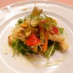 ピッツェリア・サバティーニ - キスと夏野菜のエスカベーチェ