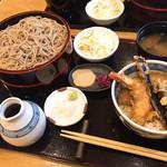 青海岸 - 天丼セット ざる2枚