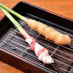 谷中生姜の黒豚巻き