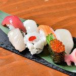 旬の握り寿司盛り合わせ