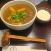 たからや - 料理写真:肉あげカレーうどん+山芋