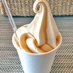 旅の駅 日光ろばたづけ - 醤油ソフトクリーム(お試しサイズ)