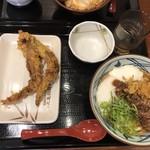 丸亀製麺 - ゲソ天が柔らかくて美味しかった