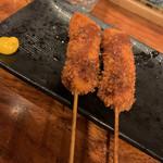 串道楽 潤 - 豚串揚げ。トリ串揚げもあります。