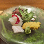 日本料理 太月 - 五島列島赤あじ、くえ、むらさきうに
