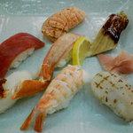 Bote - 握り8貫¥2000(鰹の炙りは食べてしまい^^;)