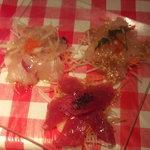 そよ風 - 築地直送!!鮮魚のカルパッチョ。3種盛り~~