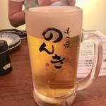 もつ焼のんき - 生ビール 500円