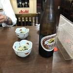 中華料理 おがわ - まずはビール