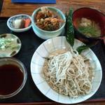 一葉亭 - ランチセット せいろ+かき揚げ丼