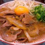 肉ばかラーメン なおじ - 肉バカラーメン 生姜焼き ライス付き(700円)