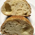 panda - チーズのパンの断面