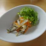 ラ・テラッツァ 芦ノ湖 - おまかせ前菜:わかさぎの南蛮漬け風