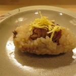 ふじ原 - 穴子の蒸し寿司