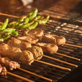厳選野菜も炭火の力でより味わい深く、美味しくなっています。