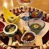 悠湯の郷 ゆさ - 料理写真:前菜の8品盛り合わせ,。グラスに入った野菜のゼリー寄せとスモークサーモン、数の子スライスのせは絶品。古代米のいくらのせは中に鰻?が入っているなどなど。どれもひと手間かけた逸品揃い。