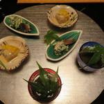 建仁寺 祇園 丸山 - 3種類の珍味(2人分)