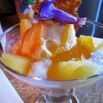 ポリネシアンテラス レストラン - 「パッションフルーツムースとヨーグルトのパフェ」