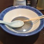 長崎菜館 - スープも完食です