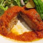 カフェルード - ルードの手ごねハンバーグ 夏野菜のトマトソース