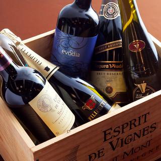 世界から厳選した料理と相性抜群のワイン