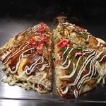 広島風お好み焼 あす香 - 肉玉そば、麺ダブル