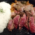 Beef Labo - Beef Labo @西葛西 ステーキカレー ショートプレート 5オンス(140g)ライス少な目でお願い