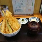 食事処 みしまや - 料理写真:あなご天丼(あなご・野菜)