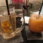 とり元 - ジンジャーハイボールとカシスオレンジ